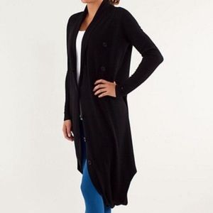 Lululemon Black Intuition Wrap Sweater